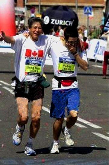 acabando una maraton