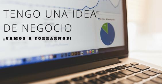 ordenador con ideas de negocios